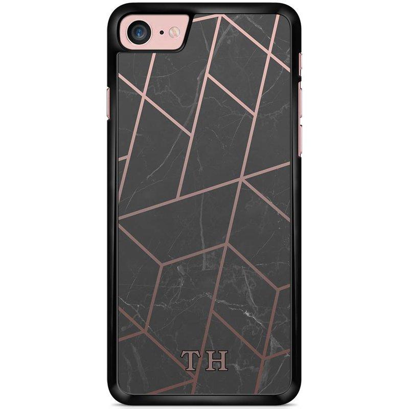 Casimoda hoesje met naam - Marble grid