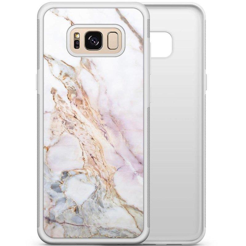 Samsung Galaxy S8 hoesje - Parelmoer marmer