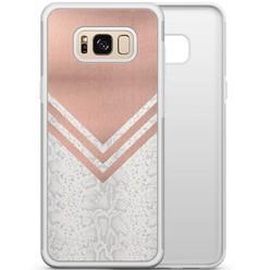 Samsung Galaxy S8 hoesje - Rose gold snake