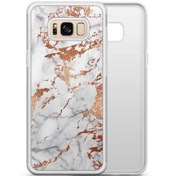Samsung Galaxy S8 hoesje - Rose goud marmer