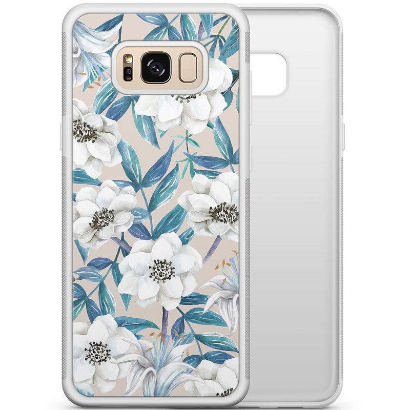 Samsung Galaxy S8 hoesje - Touch of flowers