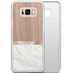 Samsung Galaxy S8 hoesje - Marble wood