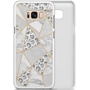 Samsung Galaxy S8 hoesje - Stone & leopard print