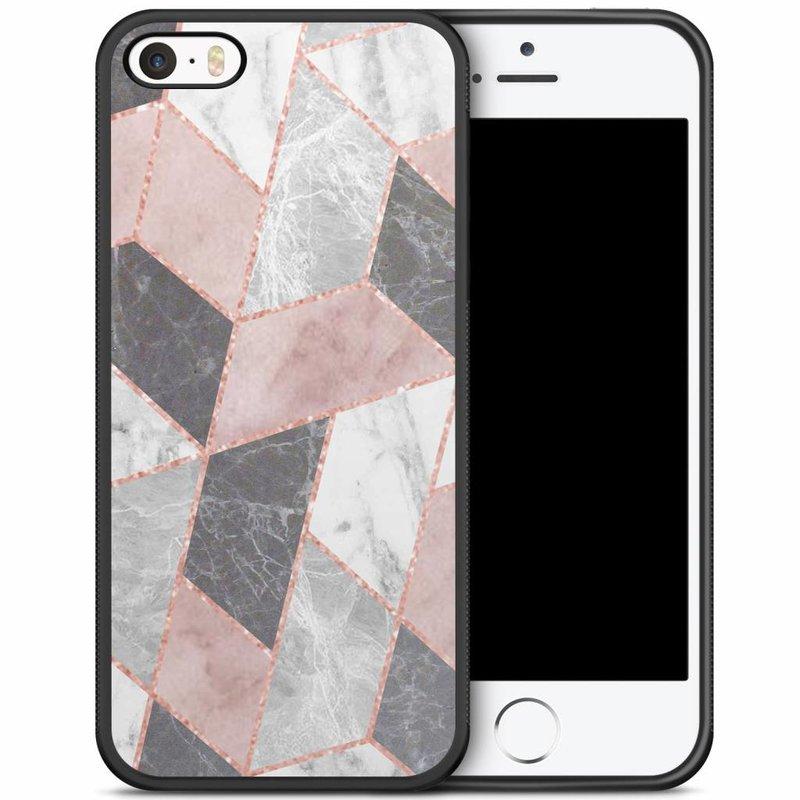 iPhone 5/5S/SE hoesje - Stone grid