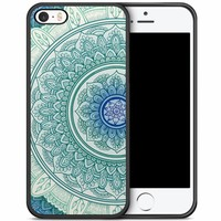 iPhone 5/5S/SE hoesje - Mandala blauw