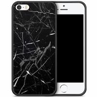 iPhone 5/5S/SE hoesje - Marmer zwart