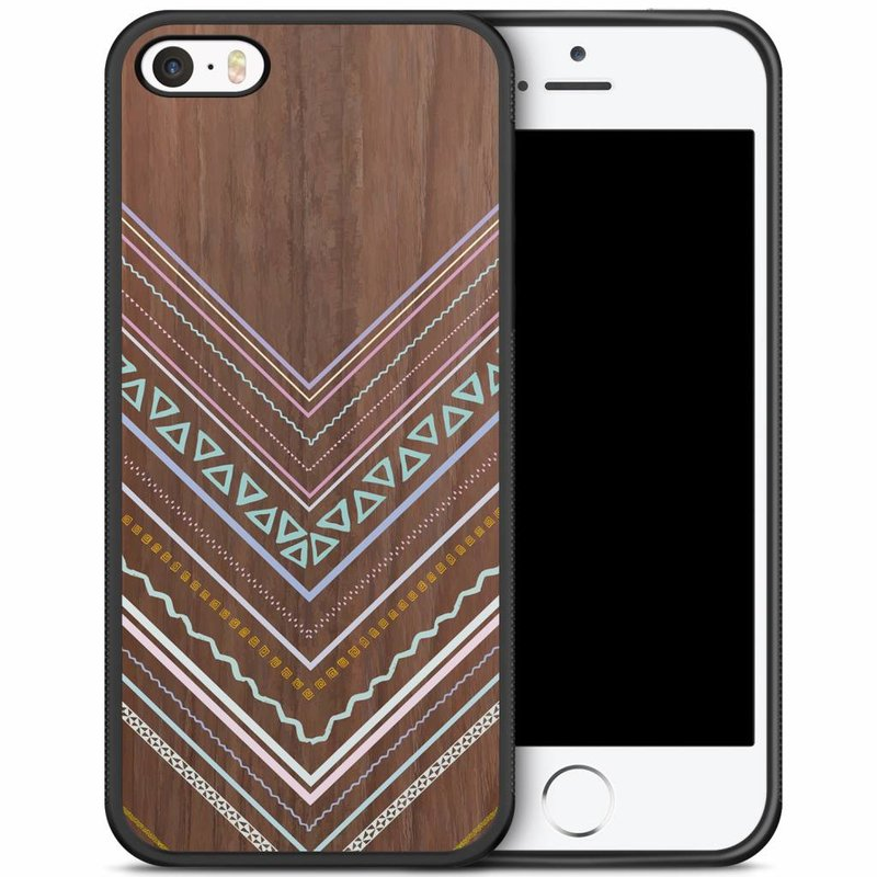 iPhone 5/5S/SE hoesje - Wooden lines
