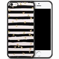 iPhone 5/5S/SE hoesje - Hart streepjes