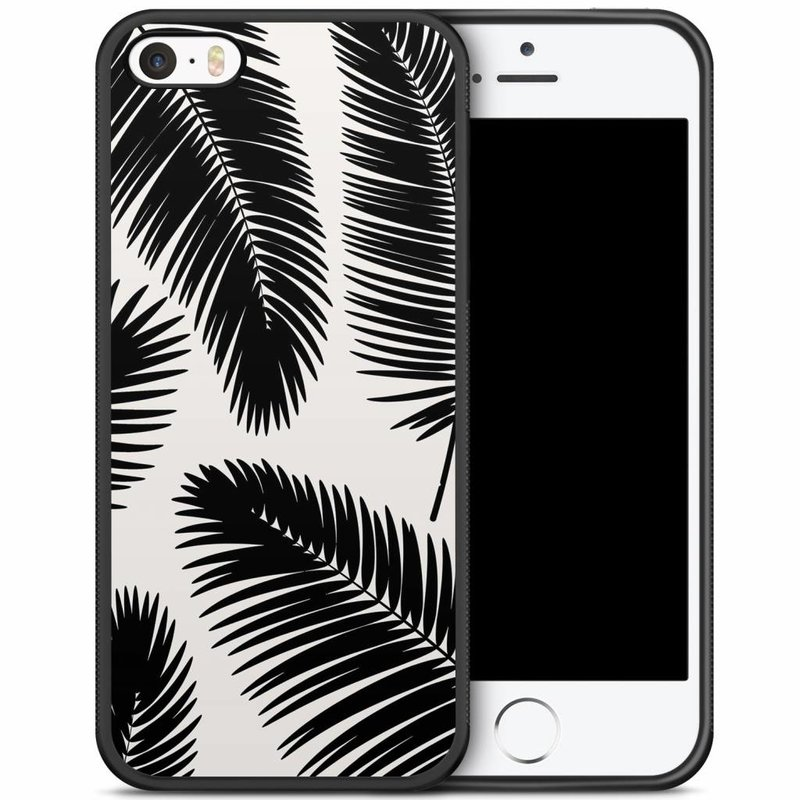 iPhone 5/5S/SE hoesje - Palm leaves silhouette