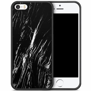 iPhone 5/5S/SE hoesje - Black is my happy color (marmer)