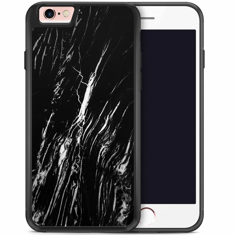 iPhone 6/6s hoesje - Black is my happy color (marmer)