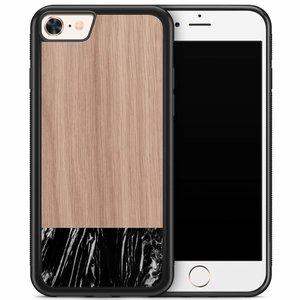 iPhone 8/7 hoesje - Marmer zwart wood