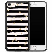 iPhone 8/7 hoesje - Hart streepjes