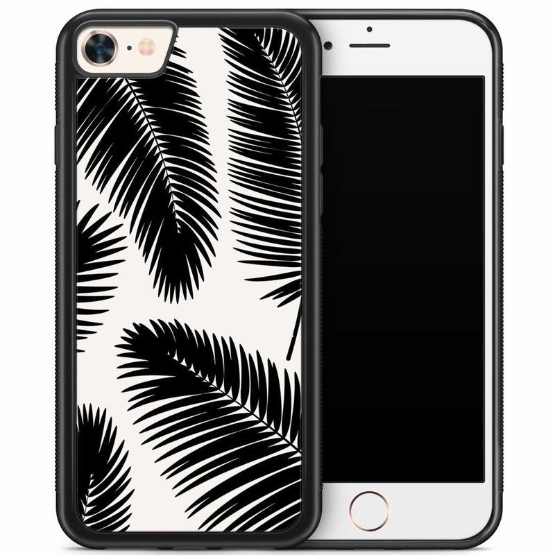 iPhone 8/7 hoesje - Palm leaves silhouette
