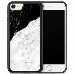 iPhone 8/7 hoesje - Marmer zwart grijs