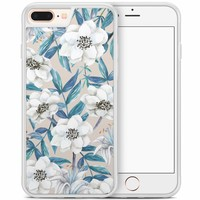 iPhone 8 Plus/iPhone 7 Plus hoesje - Touch of flowers