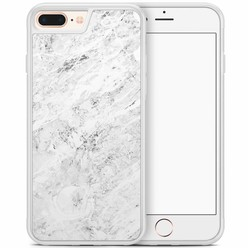 iPhone 8 Plus/iPhone 7 Plus hoesje - Marmer grijs