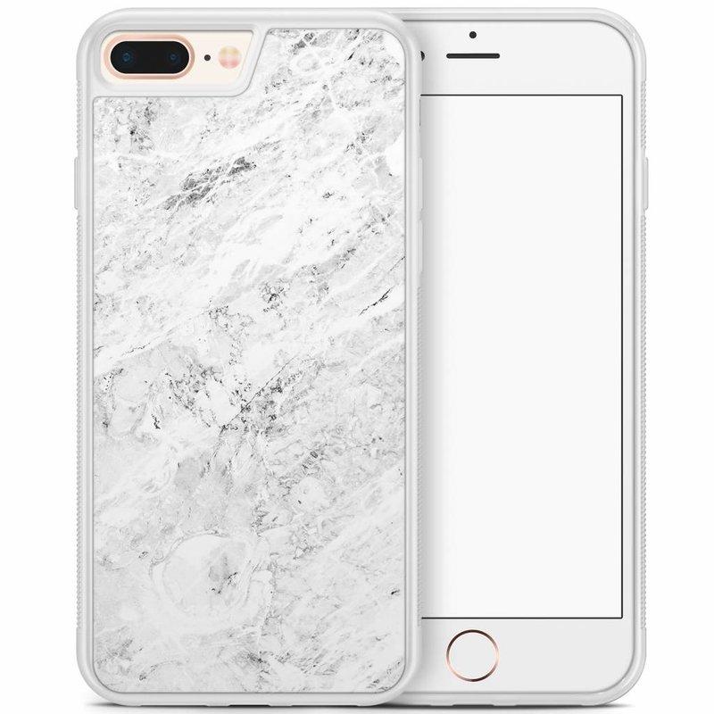 iPhone 8 Plus/iPhone 7 Plus hoesje - Marmer grijs