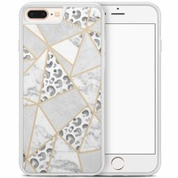 iPhone 8 Plus/iPhone 7 Plus hoesje - Stone & leopard print