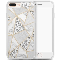 iPhone 8 Plus/iPhone 7 Plus hoesje - Stone & leopard print