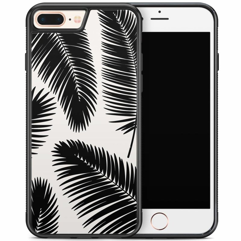 iPhone 8 Plus/iPhone 7 Plus hoesje - Palm leaves silhouette
