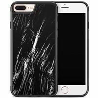 iPhone 8 Plus/iPhone 7 Plus hoesje - Black is my happy color (marmer)