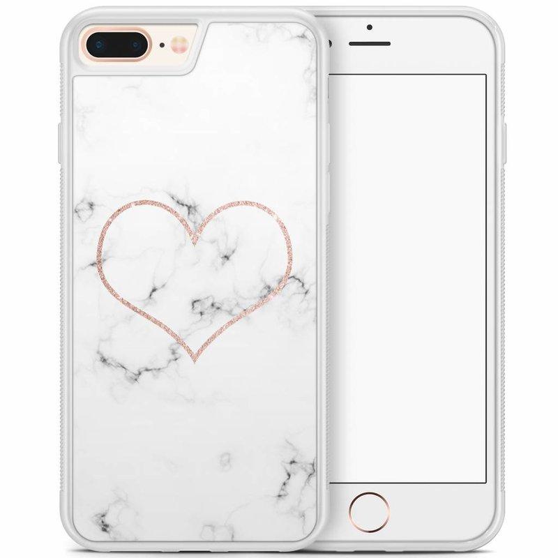 iPhone 8 Plus/iPhone 7 Plus hoesje - Marmer hart