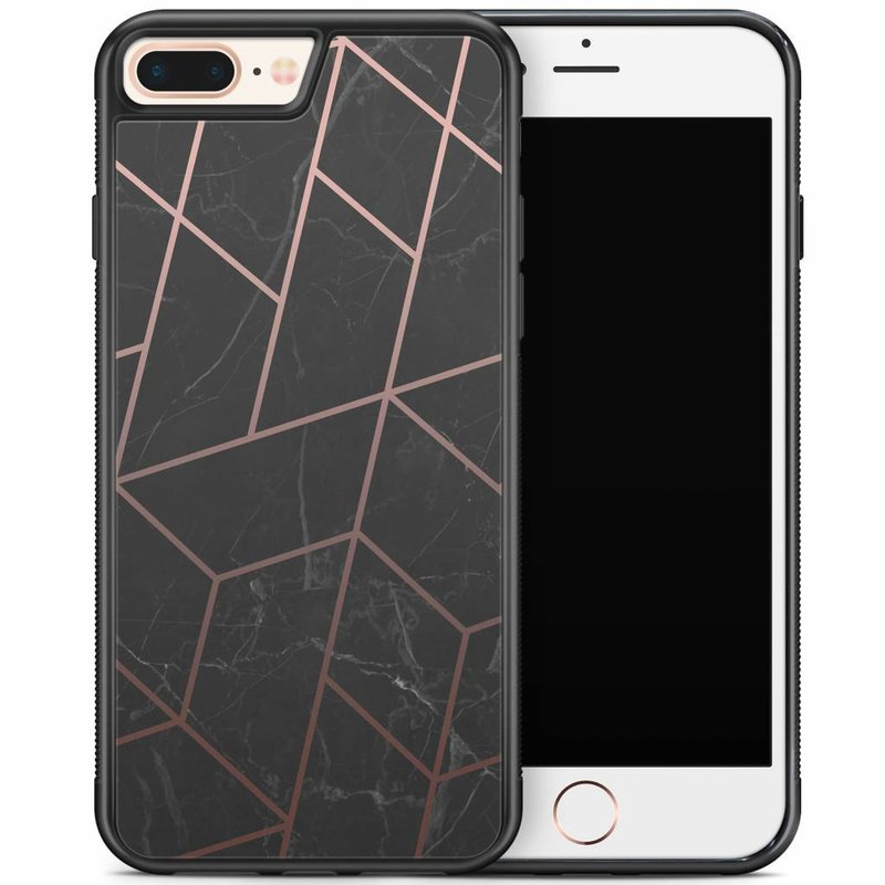 iPhone 8 Plus/iPhone 7 Plus hoesje - Marble grid