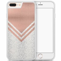 iPhone 8 Plus/iPhone 7 Plus hoesje - Rose gold snake