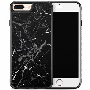 iPhone 8 Plus/iPhone 7 Plus hoesje - Marmer zwart