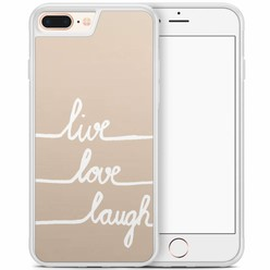 iPhone 8 Plus/iPhone 7 Plus hoesje - Live, love, laugh
