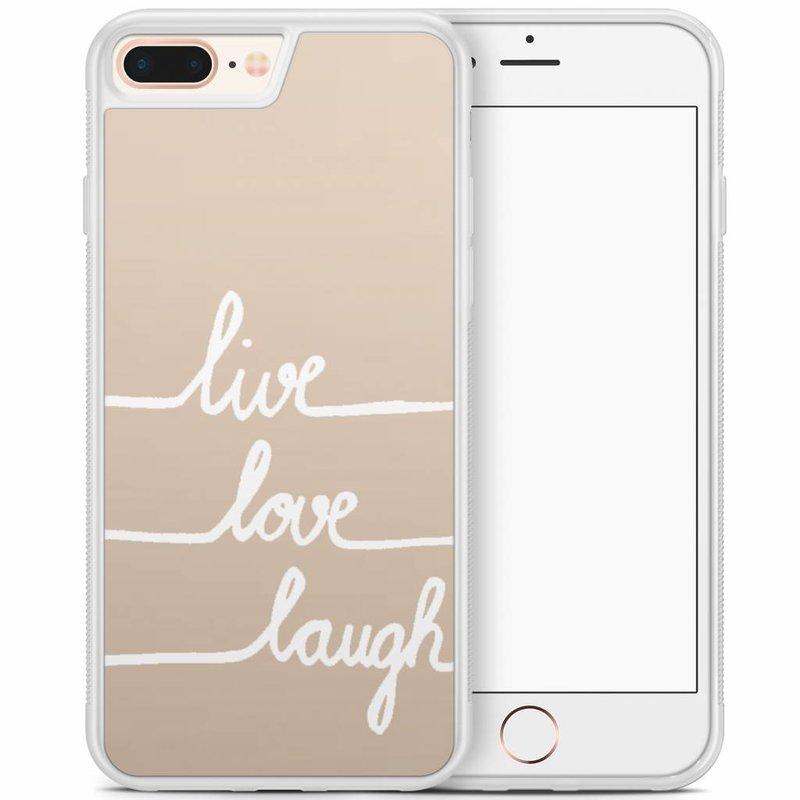 iPhone 8 Plus/iPhone 7 Plus hoesje - Live, love, laugh