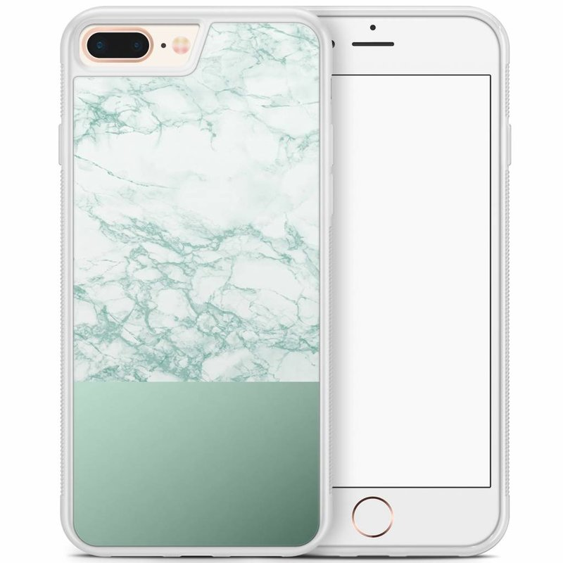 iPhone 8 Plus/iPhone 7 Plus hoesje - Minty marble