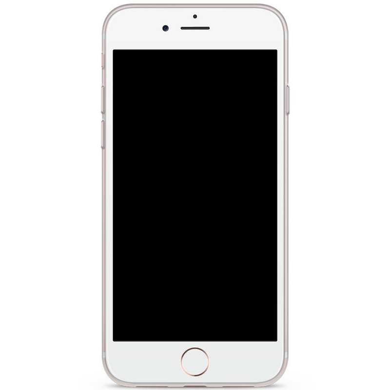iPhone 8 / 7 siliconen hoesje - Panda