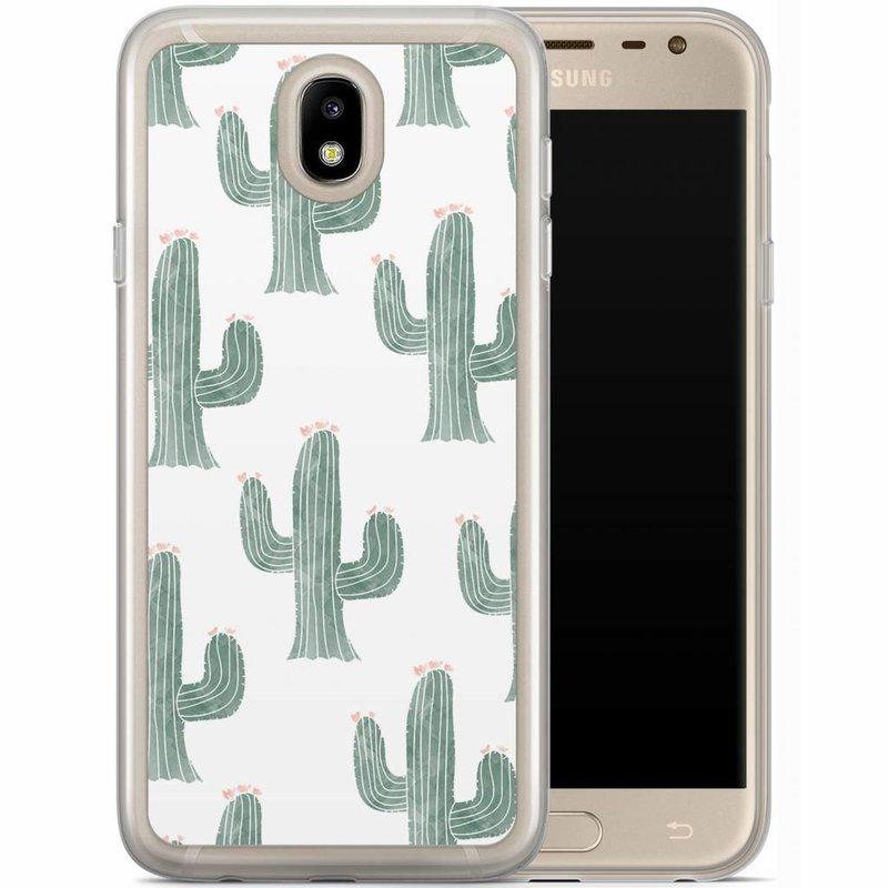 Casimoda Samsung Galaxy J7 2017 siliconen hoesje - Cactus print