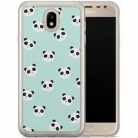 Casimoda Samsung Galaxy J7 2017 siliconen hoesje - Panda print