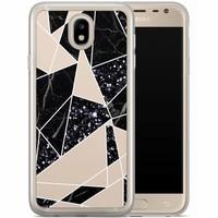 Casimoda Samsung Galaxy J7 2017 siliconen hoesje - Abstract painted