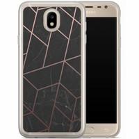 Casimoda Samsung Galaxy J7 2017 siliconen hoesje - Marble grid