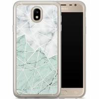 Casimoda Samsung Galaxy J5 2017 siliconen hoesje - Marmer mint mix