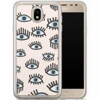 Casimoda Samsung Galaxy J5 2017 siliconen hoesje - Eyes on you