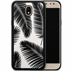Casimoda Samsung Galaxy J3 2017 hoesje - Palm leaves sillhouette