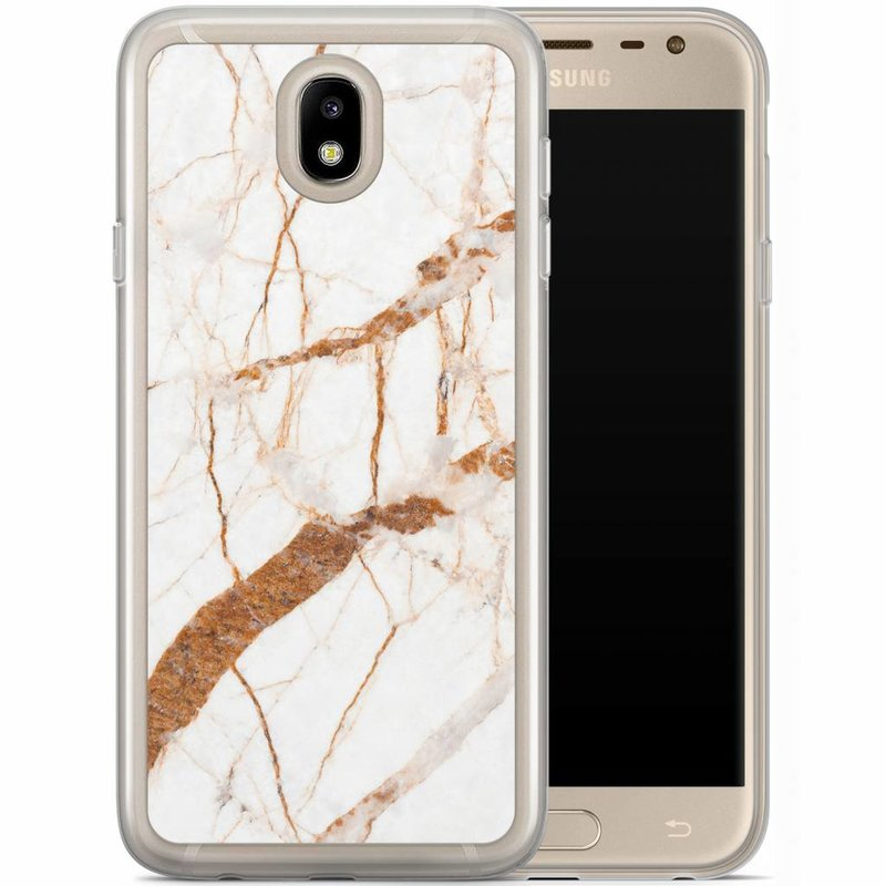 Casimoda Samsung Galaxy J3 2017 siliconen hoesje - Marmer goud