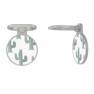 Zilveren telefoon ring houder - Cactus print