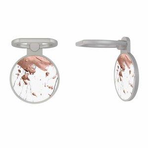 Zilveren telefoon ring houder - Marble splash