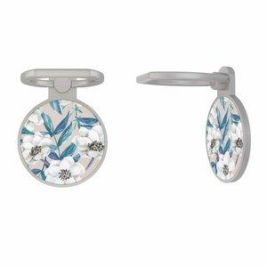 Zilveren telefoon ring houder - Touch of flowers