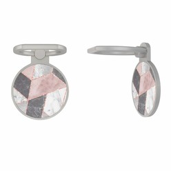 Zilveren telefoon ring houder - Stone grid