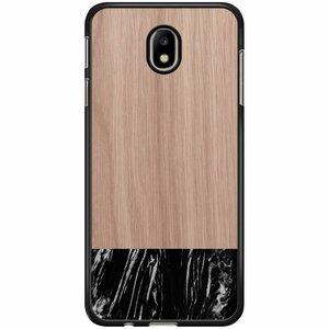 Samsung Galaxy J3 2017 hoesje - Marmer zwart wood