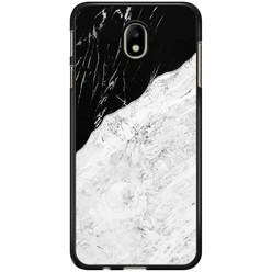 Samsung Galaxy J3 2017 hoesje - Marmer zwart grijs