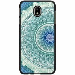 Samsung Galaxy J7 2017 hoesje - Mandala blauw