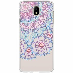 Samsung Galaxy J7 2017 hoesje - Red & blue floral